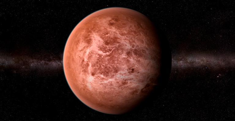 Planeta mais quente do sistema solar, Vênus é o segundo mais próximo do Sol e o que mais pode se aproximar da Terra